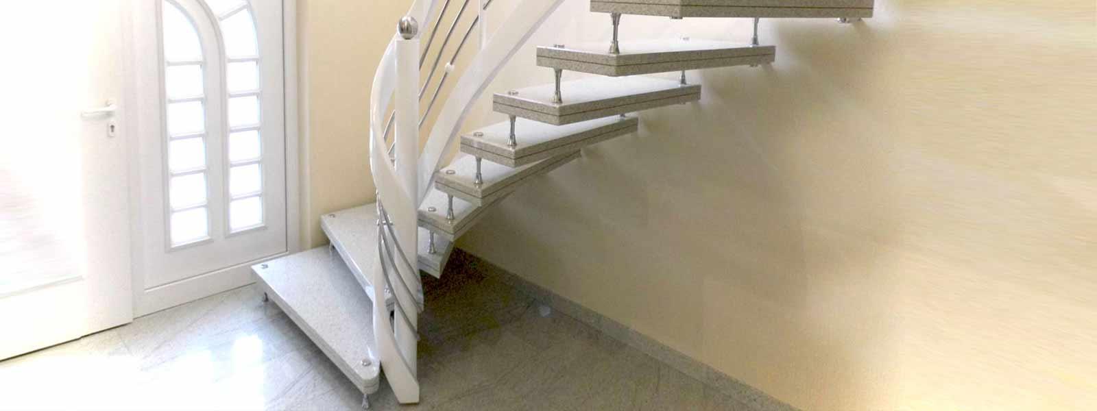 freitragende treppe und bolzentreppe granit. Black Bedroom Furniture Sets. Home Design Ideas